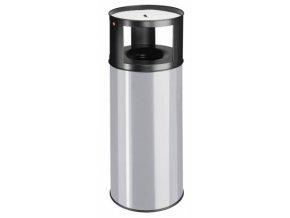 Samozhášecí odpadkový koš s popelníkem, 75l, šedý