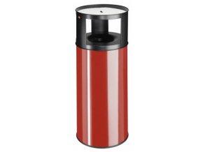 Samozhášecí odpadkový koš s popelníkem, 75l, červený