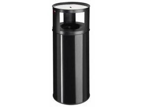 Samozhášecí odpadkový koš s popelníkem, 75l, černý