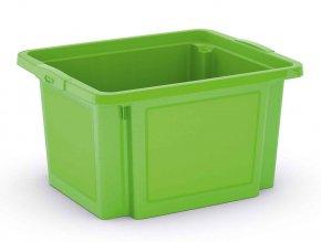 Plastová přepravka, 23 l, zelená