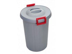 Odpadkový koš na tříděný odpad 25 litrů, červená