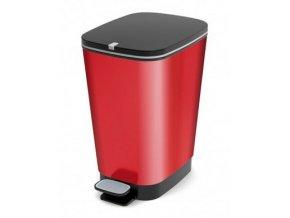 Odpadkový koš plastový, design červená, 35 l