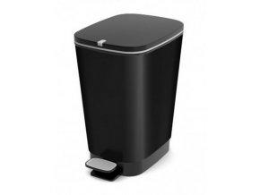 Odpadkový koš plastový, design černá, 35 l