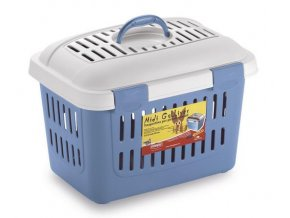 Přepravka pro psy, kočky i jiná zvířata do 5 kg, Midi Gulliver modrá