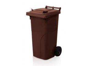 popelnice 120 l plastova hneda