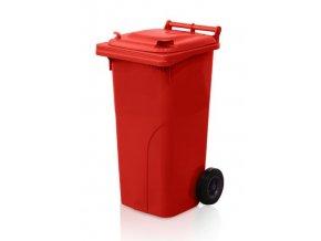 popelnice 120 l plastova cervena