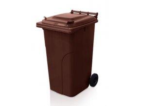 popelnice 240 l plastova hneda