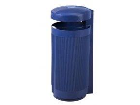 Odpadkový koš venkovní 50 litrů, modrý