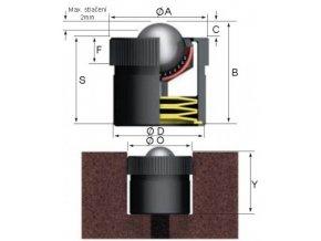Kuličková kladka, rázové zatížení, průměr 12,7 mm