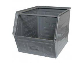 Kovový box zkosený, 40 x 60 x 40 cm, šedá