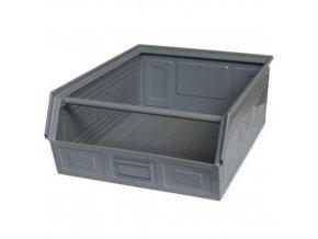 Kovový box zkosený 20 x 60 x 40 cm, šedá