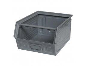 Kovový box zkosený 20 x 40 x 30 cm, šedá