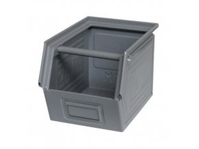 Kovový box zkosený 20 x 30 x 20 cm, šedá