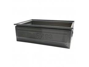 Kovová úložná bedna rovná, 200 x 400 x 600, šedá