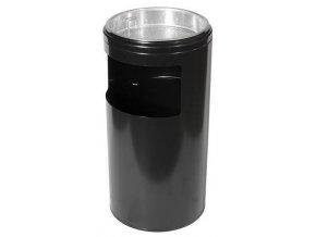 Odpadkový koš s popelníkem, černá, 20 litrů
