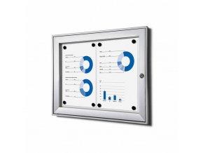 vnitrni vitrina jansen display 2xa4 SCSA4