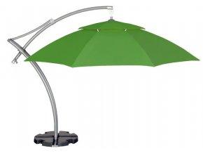 Profesionální slunečník s boční tyčí, světle zelená