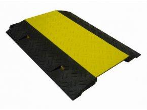 Kabelový most s víkem, 80x60x6 cm, žlutá/černá