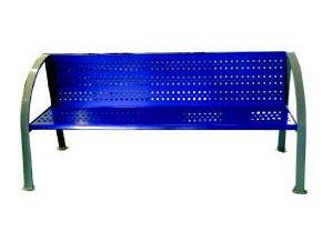 Lavička parková celokovová modrá
