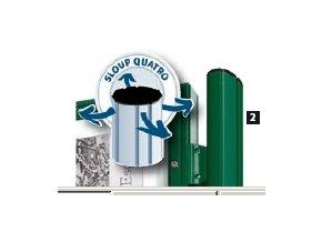 Sloupek k sestavení k vitrínám hloubky 75 mm a 150 ml
