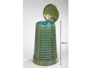 Odpadkový koš plastový 120 l - lehce stohovatelný