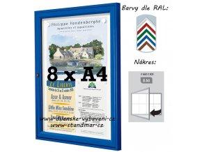 Venkovní vitrína 660 x 905 mm, hloubka 30 mm (barva)