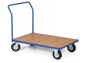 Plošinový vozík, jedno madlo, 200 kg, kola 125 mm