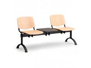 Dřevěná lavice ISO (dvojsedák), odklád. stolek II.