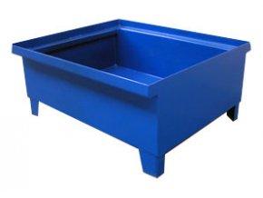 Záchytná vana pro 1 sud, bez roštu, 780x780x410 mm, pozink