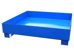 Záchytná vana pro 4 sudy, bez roštu, 1200x1200x300 mm, lak