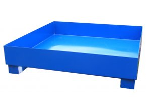 Záchytná vana pro 4 sudy, bez roštu, 1200x1200x300 mm, pozink