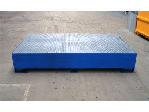 Záchytná vana s roštem a bez stolu 2300x1500x400 mm, pozink