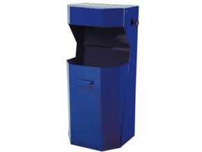 Odpadkový koš venkovní, standardní - modrý