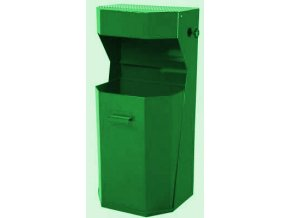 Odpadkový koš venkovní, standardní - zelený