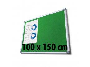 Tabule textilní, 100 x 150 cm, zelená