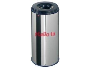 Odpadkový koš samozhášecí ProfiLine, 50 litrů, alu-šedobílý