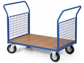 Plošinový vozík, dvě drátěná madla, 400 kg