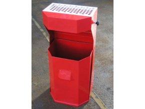 odpadkovy kos venkovni standardni oblibeny cerveny b