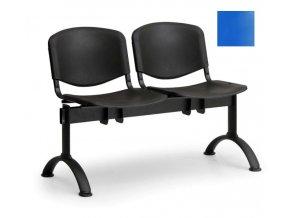 lavice dvousedak plastovy cerna modra