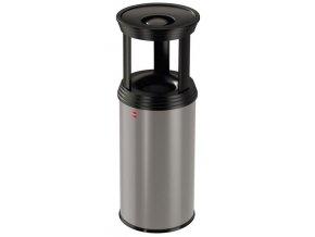 Samozhášecí odpadkový koš s popelníkem, 20l, basic - šedý/mat