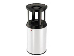 Samozhášecí odpadkový koš s popelníkem, 30l, basic - bílý
