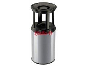 Odpadkový koš s popelníkem ProfiLine combi plus, 30 l, stříbrný