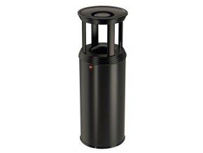 Samozhášecí odpadkový koš s popelníkem, 50l, basic - grafitově-černá