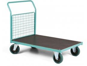 Plošinový vozík, jedno drátěné madlo, 1000 kg