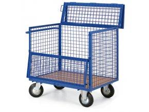Skříňový vozík drátěný s víkem