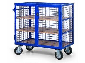 Skříňový vozík drátěný střední