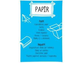 samolepka A4 trideni odpadu papir tisk