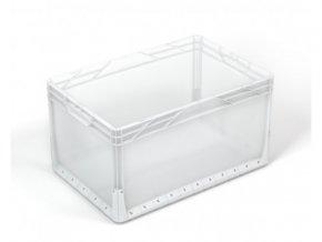 Plastová EURO přepravka PP 62 l, 32 x 40 x 60 cm, transparentní