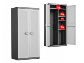Vysoká plastová skříň dělená XL Logico 182x89x54 cm