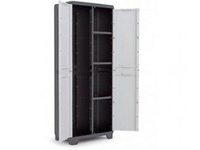 Vysoká plastová skříň dělená Linear 173x68x39 cm